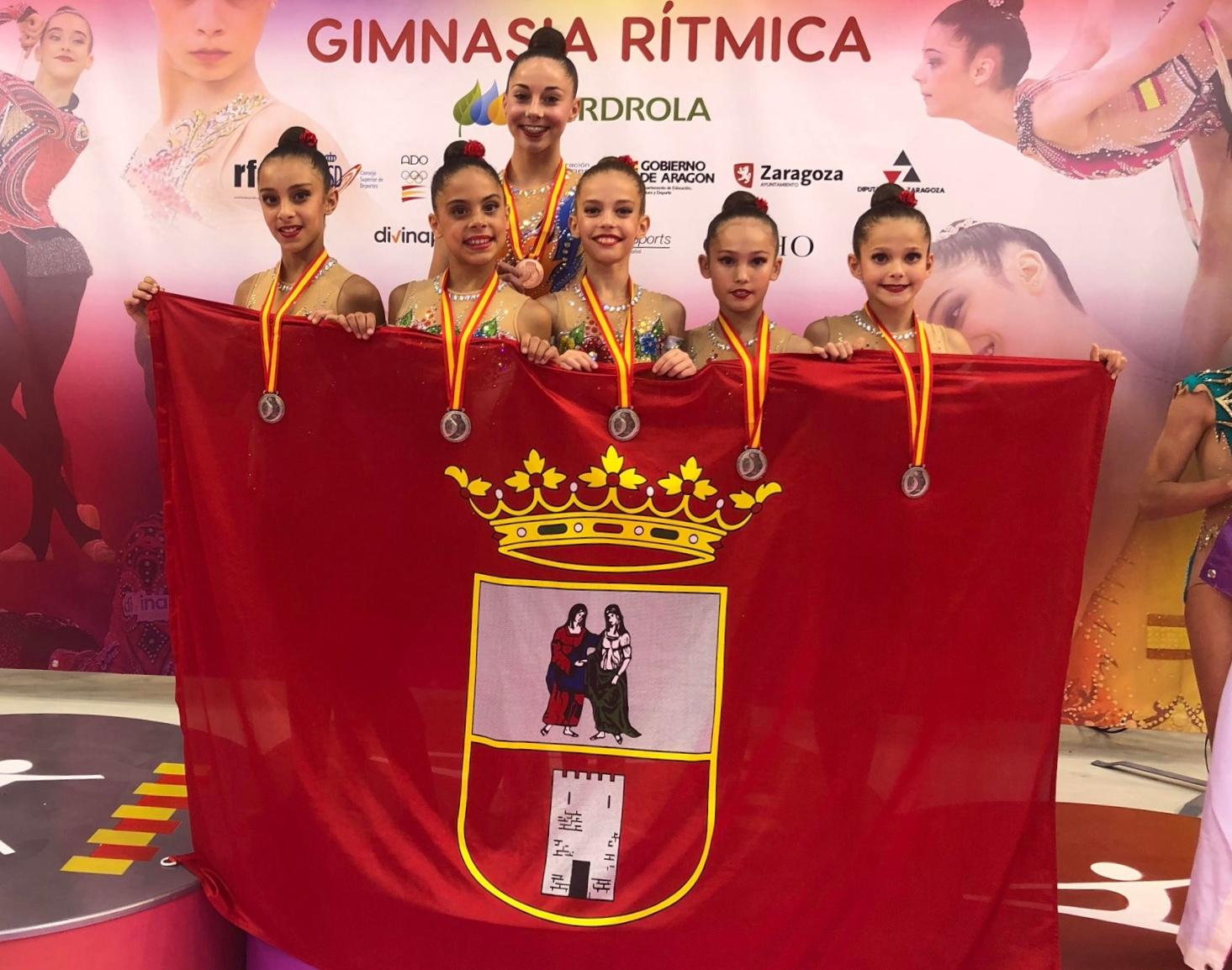 Componentes del conjunto nazareno que participó en el campeonato de Zaragoza
